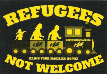 Aufkleber - Refugees not welcome