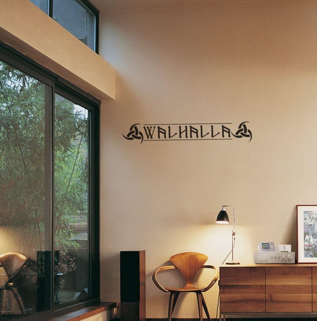 dw wandaufkleber walhalla 1. Black Bedroom Furniture Sets. Home Design Ideas