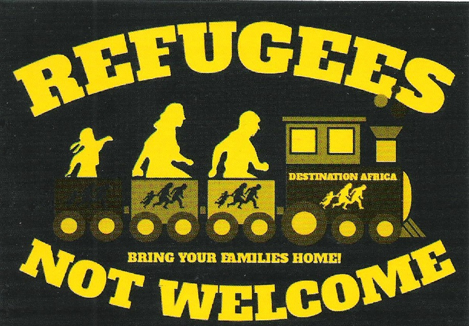 Refugees Not Welcome Sticker